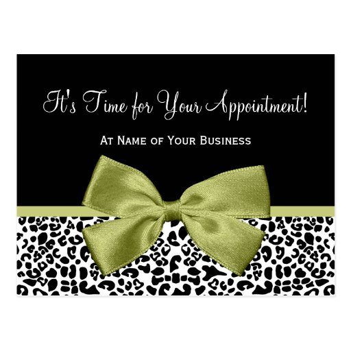 Linden Leopard Print Salon Appointment Reminder Postcards
