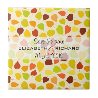 Linden tree Autumn Save the date Tile