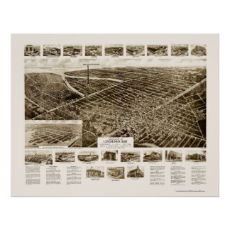 Lindenhurst, NY Panoramic Map - 1926 Poster