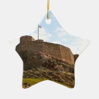 Lindisfarne Castle, Holy Island, England Ceramic Ornament