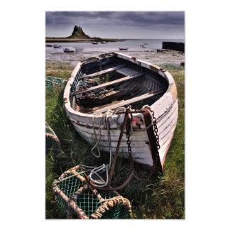Lindisfarne Castle & Old Boat - Holy Island print