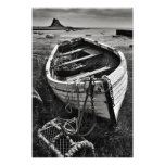 Lindisfarne Castle & Old Boat - Holy Island print Photographic Print