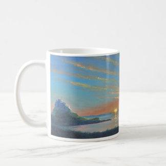 Lindisfarne Castle Sunrise Basic White Mug