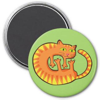 Lindo Gato, cat, kitten. 7.5 Cm Round Magnet