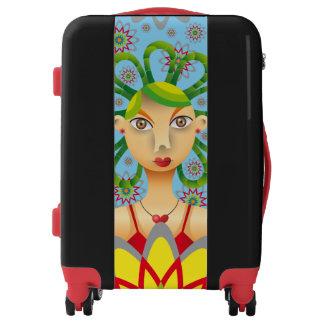 Lindo peinado exótico luggage