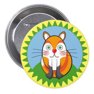 Lindo zorro, fox. 7.5 cm round badge