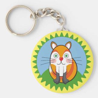 Lindo zorro, fox. basic round button key ring
