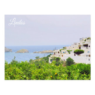Lindos, Rhodes Postcard-1 Postcard