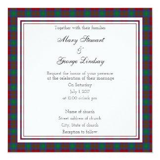 Lindsay Scottish Wedding Square Invitation