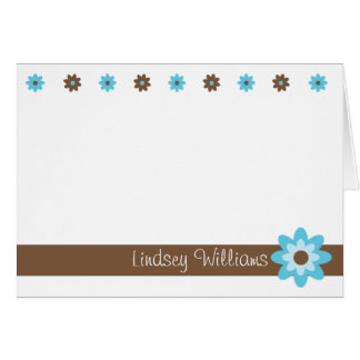Lindsey - Brown and Turquoise Card