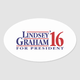 Lindsey Graham for President Oval Sticker