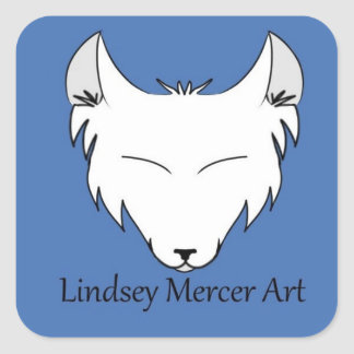 Lindsey Mercer Logo Square Sticker