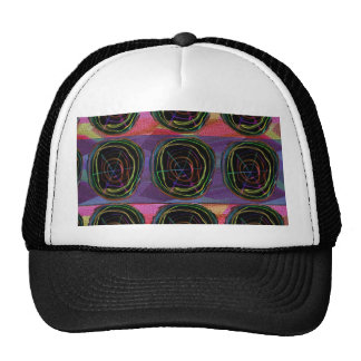 Line Art Circles Round Spark Abstract Elegant Gift Cap