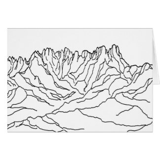Line art coloring image of Organ pipe Mountains Card