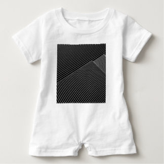 Line art - geometric illusion, abstract stripes bw baby bodysuit