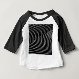 Line art - geometric illusion, abstract stripes bw baby T-Shirt