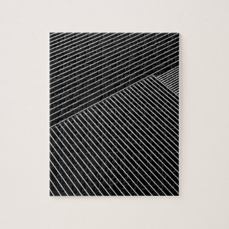 Line art - geometric illusion, abstract stripes bw jigsaw puzzle
