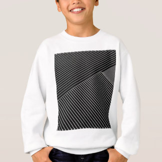 Line art - geometric illusion, abstract stripes bw sweatshirt