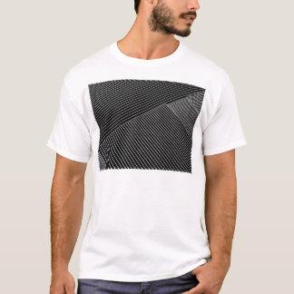 Line art - geometric illusion, abstract stripes bw T-Shirt
