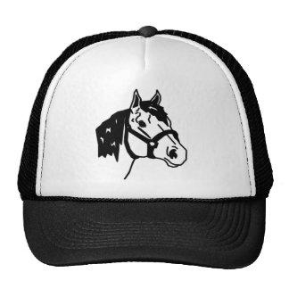 line art horse hat