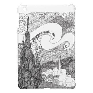 Line Art Interpretation of Starry Starry Night iPad Mini Case