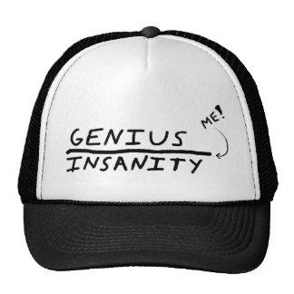 Line between Genius and Insanity Trucker Hat