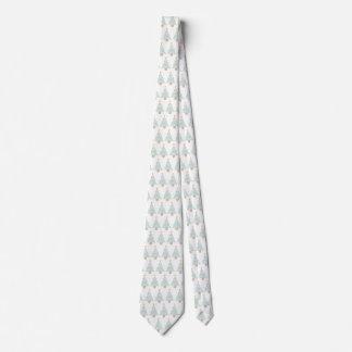 line christmas tree neck tie gift