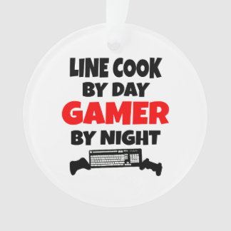 Line Cook by Day Gamer by Night Ornament
