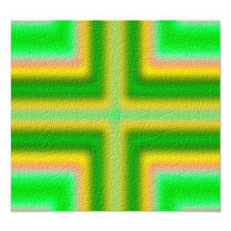 Line Cross pattern Photo Print