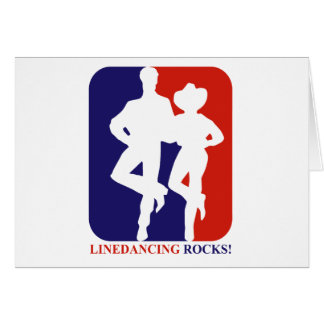 Line dance rocks designs card