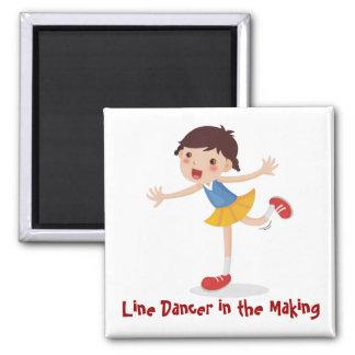 Line Dancer in the Making - Girl Refrigerator Magnets