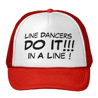 Line Dancers Do It In A Line! Cap
