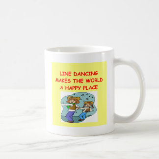 line dancing basic white mug