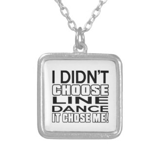 LINE DANCING CHOSE ME DESIGNS SILVER PLATED NECKLACE