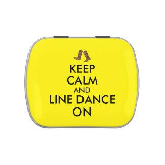 Line Dancing Gift Keep Calm Dancer Cowboy Boots Candy Tin