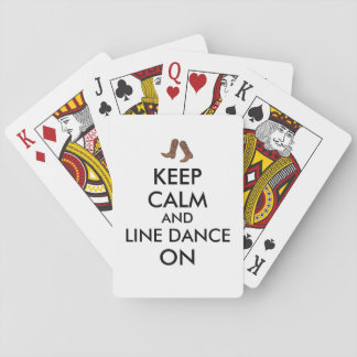 Line Dancing Gift Keep Calm Dancer Cowboy Boots Playing Cards