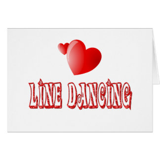 Line Dancing Hearts Cards