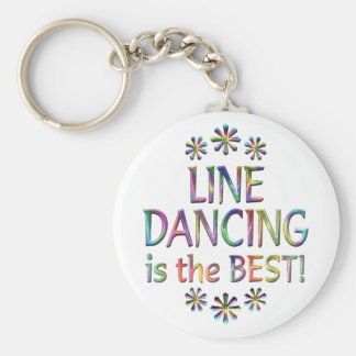 Line Dancing is the Best Basic Round Button Key Ring