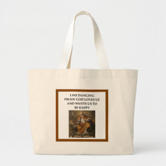 line dancing large tote bag