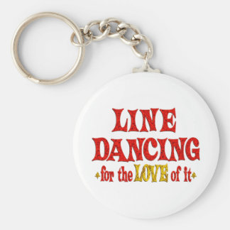 Line Dancing Love Basic Round Button Key Ring