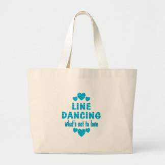 LINE DANCING LOVE CANVAS BAG