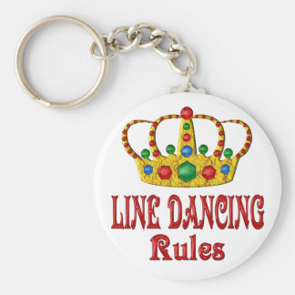 LINE DANCING RULES BASIC ROUND BUTTON KEY RING