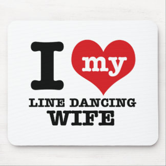 Line dancing Wife Mouse Pad