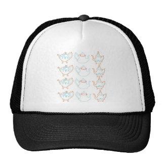 Line drawing teapots trucker hats