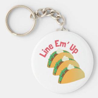 Line Em Up Keychains