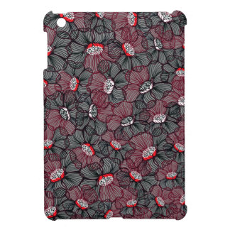 line flower iPad mini cover