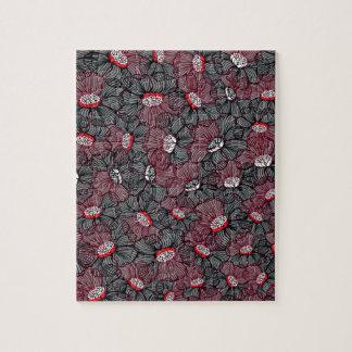 line flower jigsaw puzzle