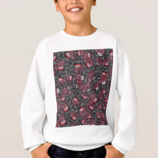 line flower sweatshirt