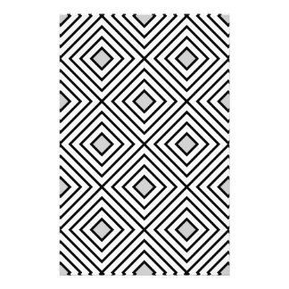Line geometric Pattern black white 02 Stationery