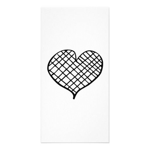 Line Heart Picture Card